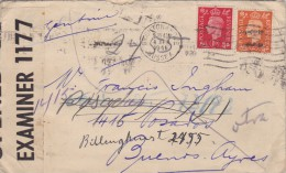 Great Britain; Censored Cover To Argentina 1941 - 1902-1951 (Re)