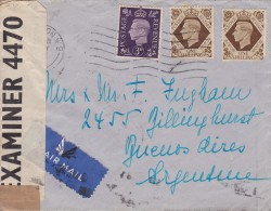 Great Britain; Censored Cover To Argentina 1941 - Cartas