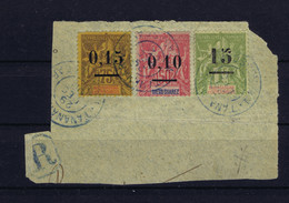 Madagascar: Yv 50 + 54 + 60 RRR  A Une Fragment  De Lettre, Two Small Tears At Arrows In The Paper Of The Fragment, Not - Gebruikt