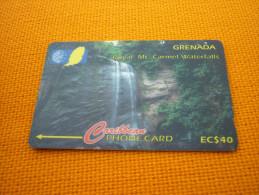 Royal Mt. Carmel Waterfalls - Grenada Phonecard - Grenade