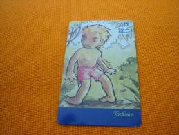 Curupira Brazilian folklore - Brazil phonecard