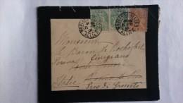 FRANCE / LETTRE DE DEUIL / 1901 / POUR L'ITALIE /CA DE CINIGIANO - Francia