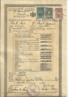KINGDOM OF YUGOSLAVIA  -  SCHOOL DIPLOMA, CERTIFICATE  --   FEMALE ELEMENTARY SCHOOL  - 1935  - TIMBRE FISCAL, TAX STAMP - Diplome Und Schulzeugnisse