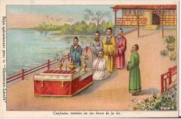 CHROMO CHOCOLAT LOUIT CONFUCIUS TERMINE LES SIX LIVRES DE LA LOI - Louit