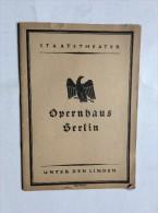 STAATSTHEATER , OPERNHAUS BERLIN , BERNHARD , 1923. ,  MADAME BUTTERFLY - Programmes