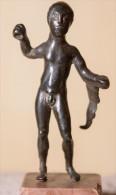 Statuette D'Hercule Italo-étrusque En Bronze - Archéologie