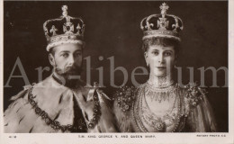 ROYALTY United Kingdom British Dominions, And Emperor Of India / King George V  / Queen Mary / Rotary Photo / 1911 - Familles Royales