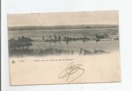 CONGO PECHEURS DANS LES RAPIDES EN FACE DE BANZYVILLE (MOBAYI MBONGO) 1908 - Congo Belge - Autres