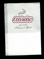 Tovagliolino Da Caffè - Caffè Carraro - Reclameservetten