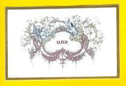 CARTE PORCELAINE +/-1850 PORSELEINKAART Carte Visite ELECO Pub ANGE  OISEAU LITHO Porceleinkaart  W47 - Cartes De Visite
