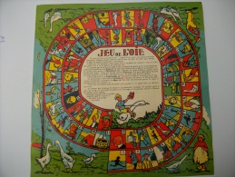 SUPPORT ANCIEN EN PAPIER POUR JEU DE L'OIE -NEUF- BON ETAT - Jeux De Société