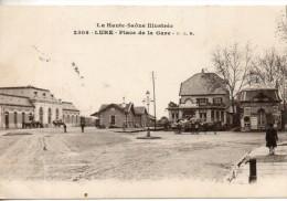 """70. Lure. Place De La Gare. Griffe """"détachement Principal D'infirmiers D'armée. Secteur 85"""" - Lure"""