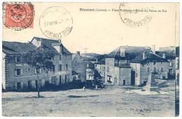 Rieutort ( Lozère ) - Place Publique - Route Du Palais Du Roi ( Cachet Perlé ) - France