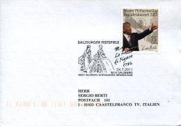 4898 Austria, Special Postmark  2011, Opera Of Amadeus Mozart, Le Nozze Di Figaro, Circuled Cover - Music