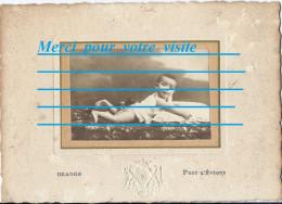 PHOTO Portrait De GUILLEMETTE BLANCHARD Bébé  à 7 Mois En Octobre 1910 Photographe OZANGE PONT L´EVEQUE 14 / Lot AGUET - Persone Identificate