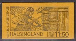 SWEDEN - 1980 HALSINGLAND TOURISM BOOKLET Kr 11.50 SG SB342 FINE MNH ** - Booklets