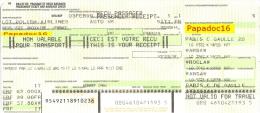 Billet De Passage - Paris - Warsaw - Wroclaw - Warsaw - Paris 1999 - [Breslau / Varsovie] - Europe