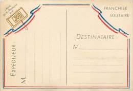 CARTE EN FRANCHISE MILITAIRE . OFFERT GRATUITEMENT PAR JOB. - Militaria