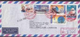 CHILE REGISTERED COVER TO ARGENTINA VILLA ALEMANA PMK COLUMBUS SHIPS, MINING, ANTARCTIC AAD0118 - Bases Antarctiques