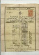 KINGDOM OF YUGOSLAVIA   --  GLINA  --   SCHOOL DIPLOMA, CERTIFICATE  1925  -TIMBRE FISCAL, TAX STAMP - Diplome Und Schulzeugnisse