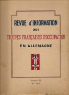 REVUE D'INFORMATION  DES TROUPES FRANCAISES  D'OCCUPATION EN ALLEMAGNE-N°32 Mai 1948 - Livres, BD, Revues