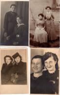 4 Cartes Photos Originales Duos De Femmes - Epoque Divers Et Variées - Personnes Identifiées