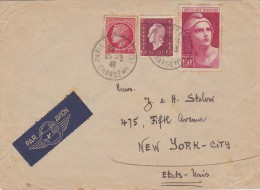 France; Cover To USA 1946 - Francia