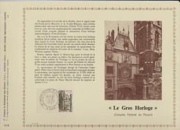 1875  De 1976 -.1er Jour  Le  24 -04 -1976   à    ROUEN. 76  -  Le Gros Horloge  à  Rouen - FDC