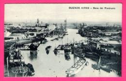 Buenos Aires - Boca Del Riachuelo - Péniches - Grue - Embouchure - Port - Édit. Z. FUMAGALLI - Argentina