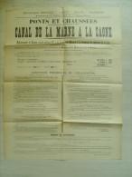 "52 haute marne "" canal de la marne � la saone - adjudication � chaumont "" 1906 - 65 cms x 51 cms"