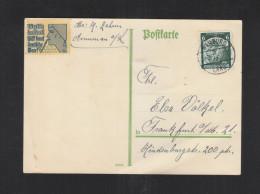 Dt. Reich PK 1935 Vignette Volk In Not! Hillf! Kauf Deutsche Ware! - Briefe U. Dokumente