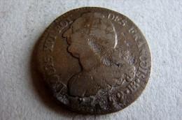 2 Sols Louis XVI 1793 BB Type Français - 1789 – 1795 Monedas Constitucionales