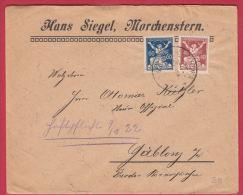 201219 / 1920 - 60 + 40 H. - Liberated Republic - HANS SIEGEL , MORCHENSTERN  Smrzovka - GABLONZ , Czechoslovakia - Tchécoslovaquie