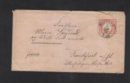 Dt. Reich Brief Uff. 4 Inf. Reg. Bautzen 1873 Siegel - Deutschland