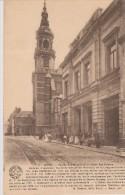 Cpa 1925 Mons. Vue Animée. Eglise Ste Elisabeth Et Hôtel Des Postes. N°11 (Edit. Desaix) - Mons