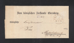 Bayern Faltbrief Forstamt Ebersberg - Bayern (Baviera)