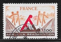 N° 2023   FRANCE  -  OBLITERE  -  AIDE A LA READAPTATION  -  1978 - France