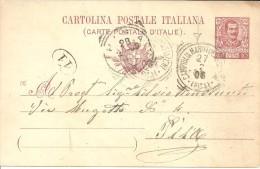 CAMPIGLIA MARITTIMA STAZIONE (PISA) - BOLLO TONDO RIQUADRATO DELLA TOSCANA SU C.P. - Nuevos