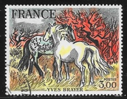 N° 2026   FRANCE  -  OBLITERE  -  TABLEAU  CHEAUX DE CAMARGES D'YVES BRAYER  -  1978 - France