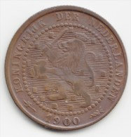 @Y@  NEDERLAND   1  Cent   1900      (2930) - [ 3] 1815-… : Koninkrijk Der Nederlanden