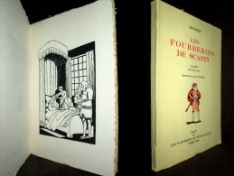 «Les FOURBERIES De SCAPIN» MOLIERE Comedie Theatre Theater Illustration Dessin Joseph HEMARD 1930 Velin Bouffant ! - Autores Franceses
