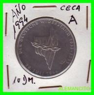 ALEMANIA  - BRD  - MONEDA DE 10 DM  PLATA  S/C  AÑO 1994-A  PROOF - [10] Conmemorativas