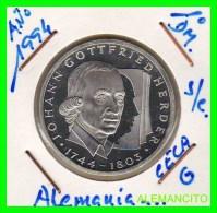 ALEMANIA  - BRD  - MONEDA DE 10 DM  PLATA  S/C  AÑO 1991-G - [10] Conmemorativas