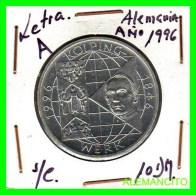 ALEMANIA  - BRD  - MONEDA DE 10 DM  PLATA  S/C  AÑO 1996-A PROOF - [10] Conmemorativas
