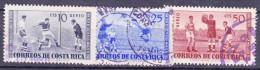 COSTA RICA   - 1960 - Michel N°.549, 550 En 552 - Voetbalkampioenschap -  Gestempeld/oblit. - ° - Costa Rica