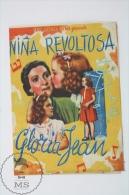 Cinema/ Movie Advertising Programme  1944 - The Under-Pup - Gloria Jean, Robert Cummings, Nan Grey - Publicité Cinématographique
