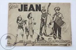 Cinema/ Movie Advertising Programme 1939 - The Under-Pup - Gloria Jean, Robert Cummings, Nan Grey - Publicité Cinématographique