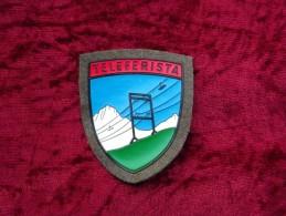 Scudetto Braccio Alpini E.I. Anni '70/80 Teleferista Originale Nuovo Di Magazzino - Esercito