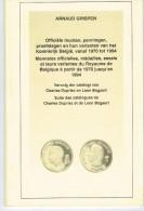 Monnaies Officielles Médailles Essais Et Leurs Variantes Du Royaume De Belgique 1970 à 1994 - Livres & Logiciels