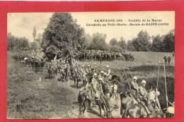Campagne 1914  Bataille De La Marne  Cavalerie Au Petit Morin Marais De SAINT-GOND Très Animée - Weltkrieg 1914-18